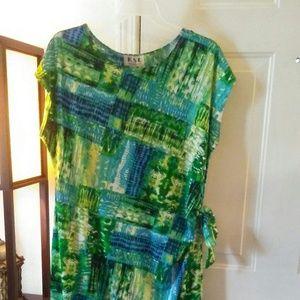 Dresses & Skirts - Blue and Green Wrap Dress